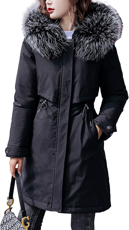 Pantete Womens 激安セール Long Trench Coats Winte Parka Fleece Jacket 特別セール品 Lined