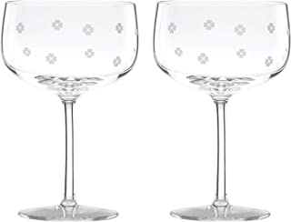 Kate Spade New York 889034 Kate Spade Clover Coupe Glasses, Set of 2