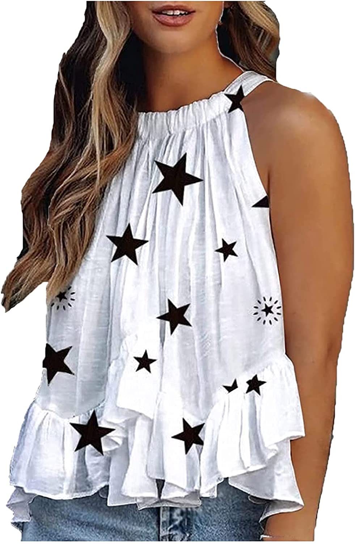Kansopa Long Beach Mall Women Strapless Printed Ultra-Cheap Deals Sleeveless Top Vest Casual Girl