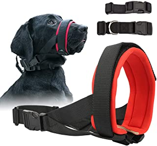 Gentle Dog Muzzle for Small, Medium, Large Dogs, Safely Secure Comfort Fit Muzzle to Prevent Barking, Biting and Unwanted ...