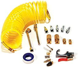 Primefit Pri-6044 IK1016S-20 Deluxe Air Compressor Accessory Kit Including Recoil Airhose