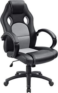 Furmax High Back Office Gaming Chair Computer Desk Chair,Ergonomic Adjustable Racing Chair,Task Swivel Executive Chair with Lumbar Support (Gray)