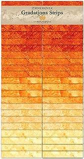 Stonehenge Gradations Brights Sunglow Stone Strips 40 2.5-inch Strips Jelly Roll Northcott