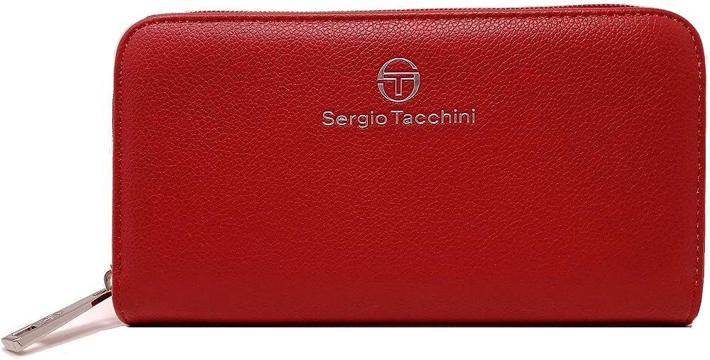 Sergio tacchini, portafoglio da donna, porta carte di credito, in ecopelle