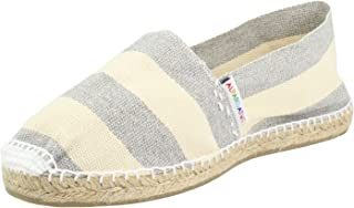 ALPARGATUS PASOS ARTESANALES HECHO A MANO MADE IN SPAIN Flat Espadrille Large Stripes Crude Grey Woman