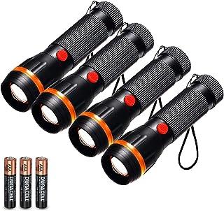 Fulighture - Juego de 4 linternas LED estándar mini