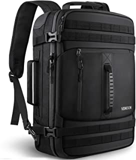 Carry on Laptop Backpack, 40L Large Travel Backpack Flight Approved Carry-on Luggage Backpack Weekender Bag for Men/Women, Water Resistant Business Laptop Backpack Fits 17.3 Inch Laptop - Black