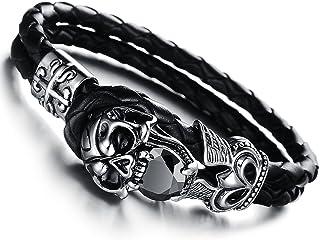 Edelstahl Glieder Armband mit Adler Biker Rocker Gothic Damen Herren TOP