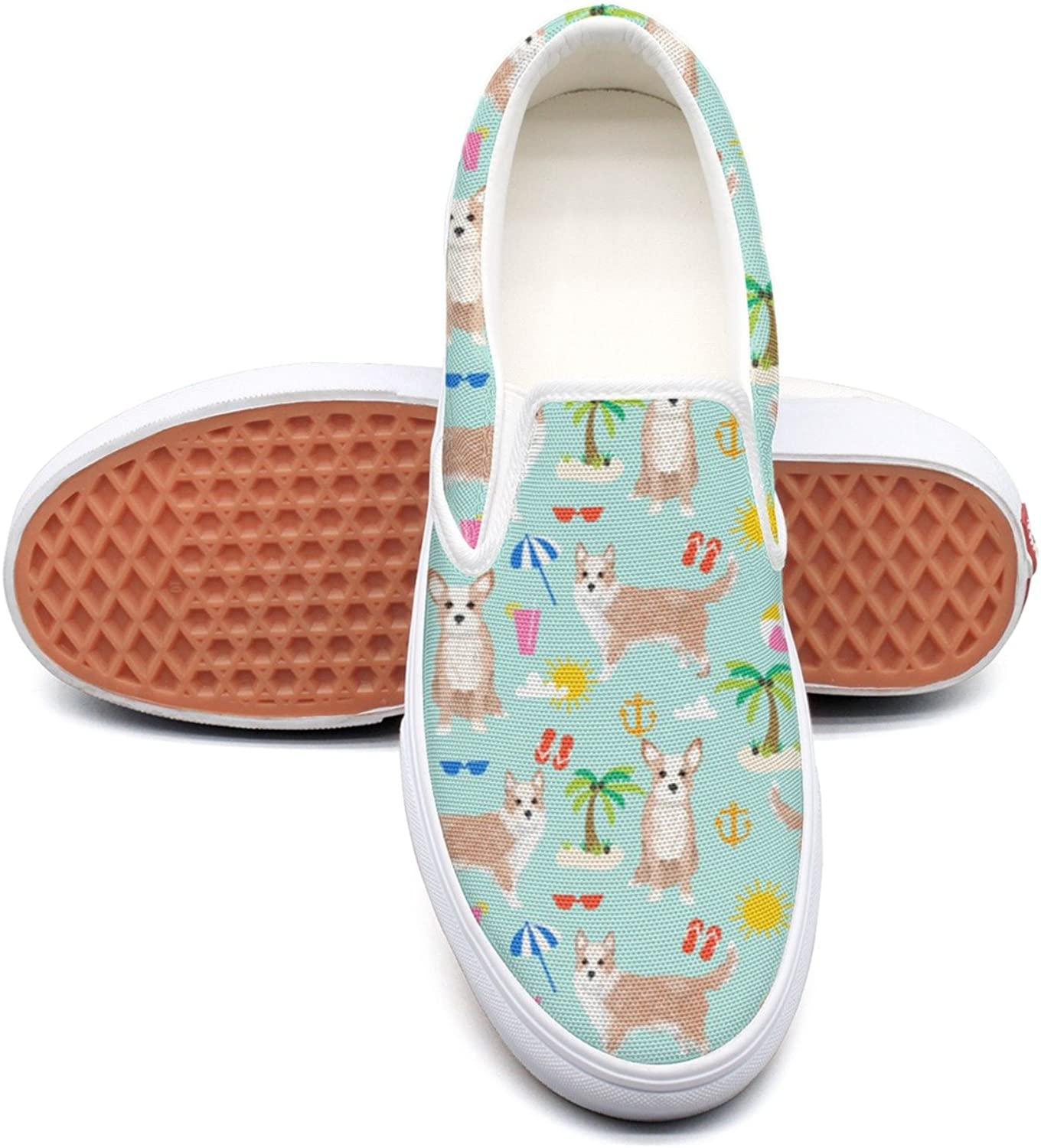 Hjkggd fgfds Casual Beach Portuguese Podengo Dogs Beautiful Women Canvas shoes