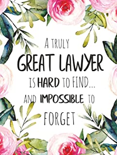 A truly great lawyer is hard to find POSTER A3 Amazing Lawyer Graduation Appreciation Gift Court Attorney Thank You Wall Art
