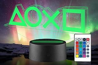 Xpassion 3D Lámpara de Escritorio, Game Player Gift Luz Nocturna 16 Multicolores Cambiar Lamp con Control Remoto, Decoraci...