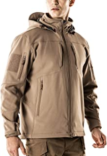 Men's Tactical Softshell Detachable Hoodie Hiking Hunting EDC Lightweight Fleece Coat Jacket