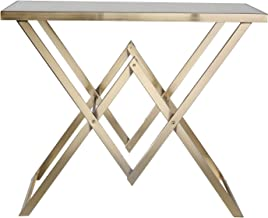 """Sagebrook Home 12955 Metal Console Table, 36"""" x 15"""" x 30"""", Gold"""