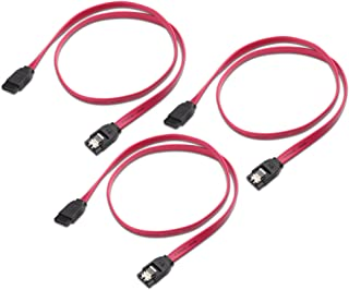 Cable Matters 3-Pack Straight SATA III 6.0 Gbps SATA Cable (SATA 3 Cable) Red - 18 Inches