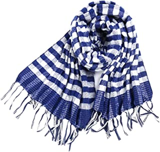 XueXian Womens Ladies Plaid Stripes Wrap Fringes Scarf Scarves Birthday