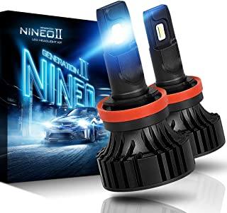 NINEO H11 H8 H9 LED Headlight Bulbs | CREE Chips 12000Lm 6500K Extremely Bright All-in-One Conversion Kit | 360 Degree Adjustable Beam Angle