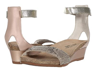 Naot Pixie (Golden Cobra Leather/Pink Nude Leather/Radiant Gold Leather) Women