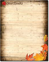 Give Thanks Statonery Thanksgiving Paper - 80 Sheets