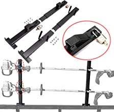 CNSY A Pair 2 Place Locking Trimmer Rack Trim line Holder Fit for Open Landscape Trailers Racks