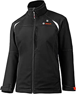 Bosch Women's 12-Volt Max Lithium-Ion Soft Shell Heated Jacket Kit with 2.0Ah Battery, Charger and Holster PSJ120S-102W