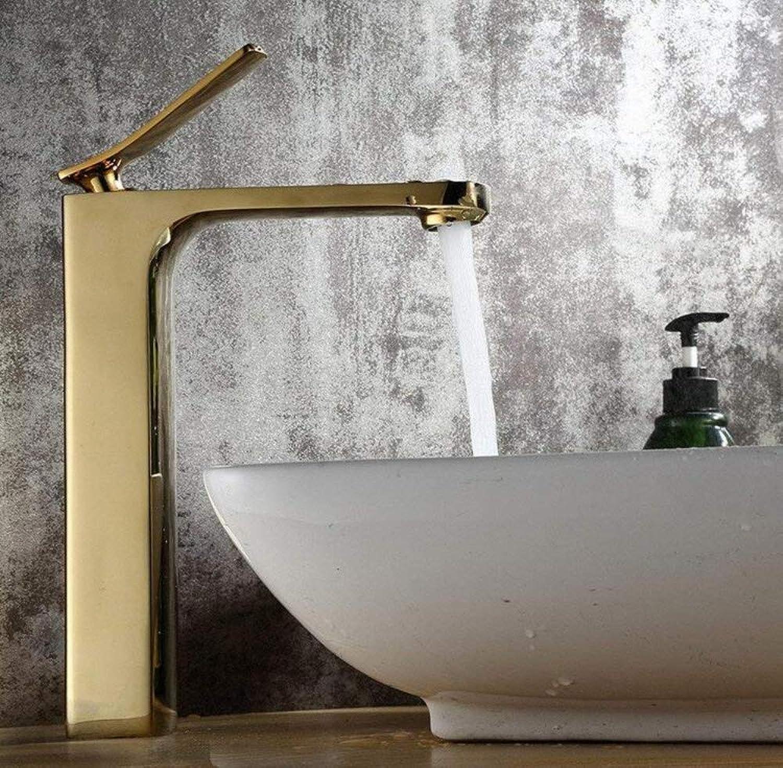 Retro Mixer Faucet All Copper gold Basin Wash Basin Faucet