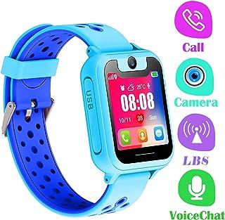 PTHTECHUS Telefono Reloj Inteligente LBS Niños - Smartwatch con Localizador LBS Juegos Despertador Camara Linterna per Niñ...