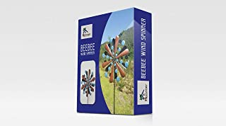 BEEBEE Extra Large Wind Spinner – Reversible Windmills For The Yard – Solid Steel Garden Spinners – Exquisite Kinetic Wind Sculpture - Ultra-Durable and Weather Resistant metal, Increased Stability