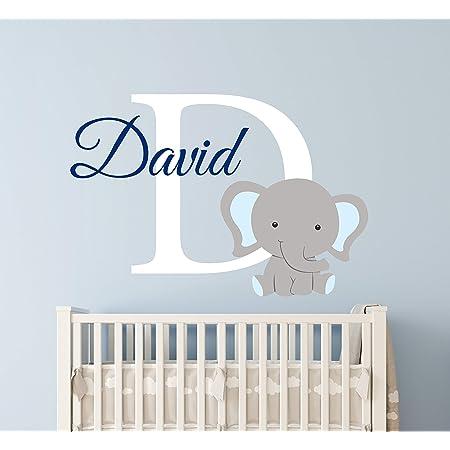 Elephant Name Series Wall Decal Nursery Vinyl Sticker for Home Wall Decor