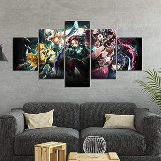 Impressions Sur Toile,5 Tableau Peinture,Décoration Maison Moderne,Modulaire Panneaux Motif Tableau,Cadeau D'Anniversaire/...