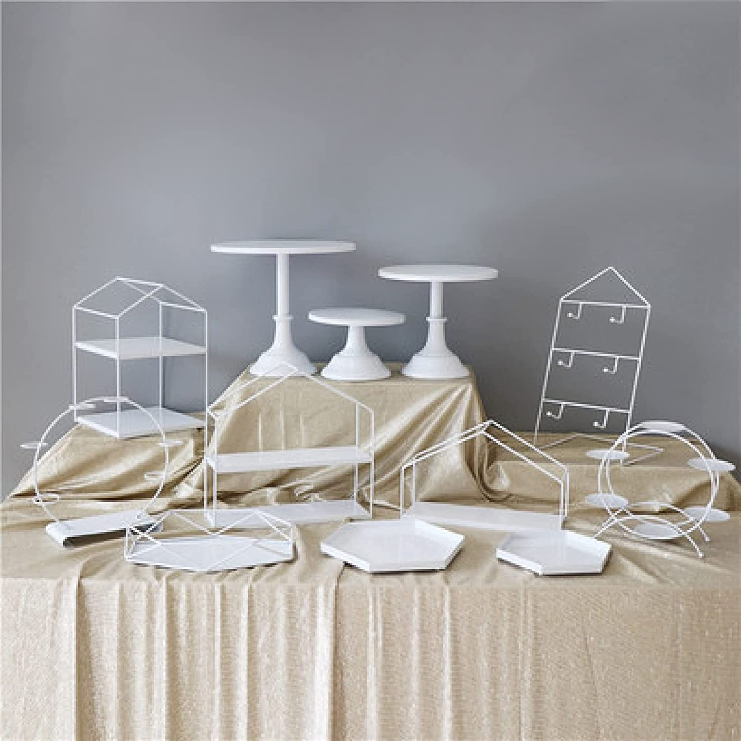 New popularity Metal Cake Stands Set White Cupcake Holder Dessert Tray Popular products Serving