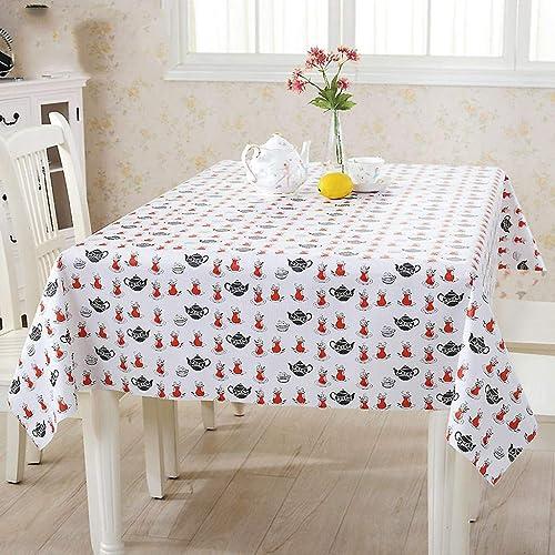 WENYAO Waterproof Tablecloth Fabric tabcloth Oil-Proof Coffee tabtablecloth Tabcloth Tabmat Coffee tabmat Rectangular tabmat