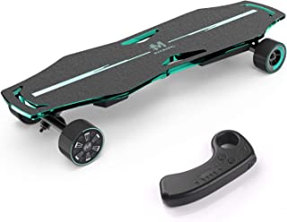 Macwheel MR1 Electric Skateboard, Powerful 600W Dual Hub-Motor, Up to 21MPH, Motorized Skateboard with Wireless Remote Controller for Adults and Youths