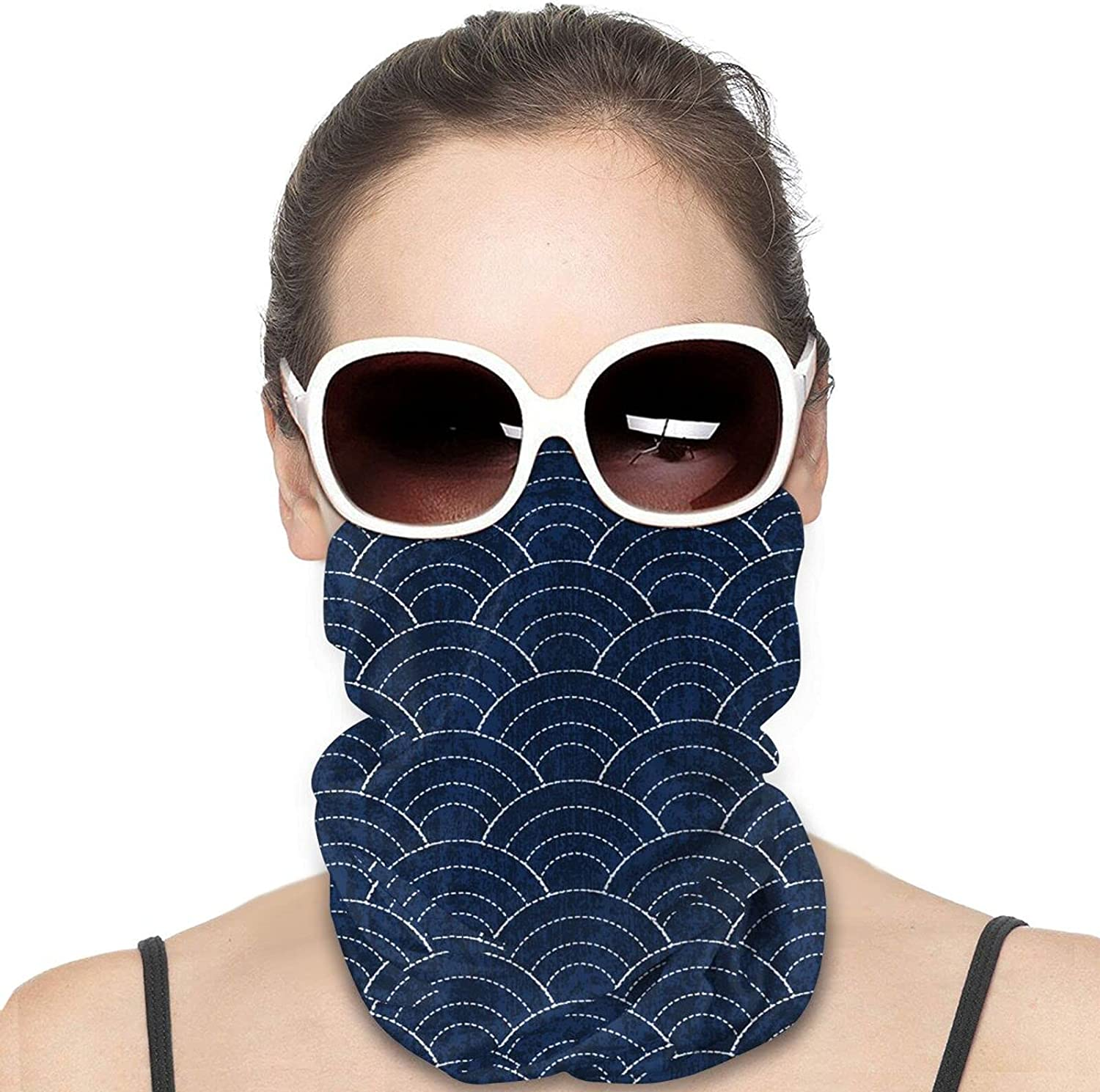 Japanese Embroidery Round Neck Gaiter Bandnas Face Cover Uv Protection Prevent bask in Ice Scarf Headbands Perfect for Motorcycle Cycling Running Festival Raves Outdoors