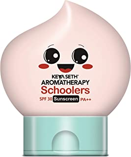 Keya Seth Aromatherapy, Schoolers Sunscreen SPF 30 PA++ for Kids Mineral Based Lotion -Paraben & Sulphate Free 50ml.