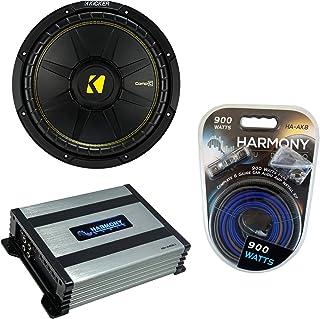 "$189 » Kicker CWD12 Car Audio CompC Subwoofer Dual 4 Ohm 12"" Sub 44CWCD124 Bundle with Harmony HA-A400.1 Amplifier & Amp Kit"