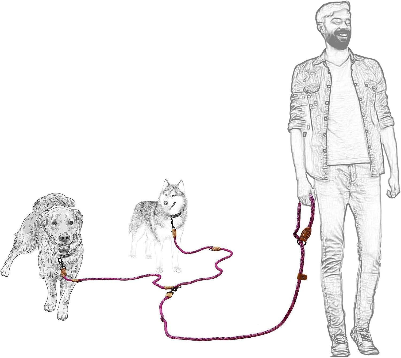 Mile High Life Correa Doble para Perros Correa de Cuerda Deslizante para Perros 240 cm