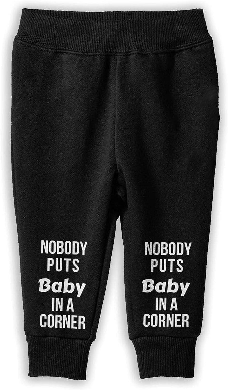 Nobody Puts Baby in The Corner Girls Childrenâ€s Cotton Jogger Pants