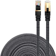 Best Cat 7 Ethernet Cable, DanYee Nylon Braided 33ft CAT7 High Speed Professional Gold Plated Plug STP Wires CAT 7 RJ45 Ethernet Cable 3ft 10ft 16ft 26ft 33ft 50ft 66ft 100ft(Black 33ft) Review