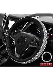 Funda de volante con tejido de piel y microfibra; estilo deportivo y tama/ño de 38 cm para coche o cami/ón