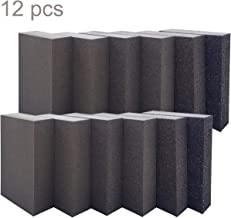 12 Pack Sanding Sponge,Sackorange Coarse/Medium/Fine/Superfine 6 Different Specifications Sanding Blocks Assortment,Washable and Reusable
