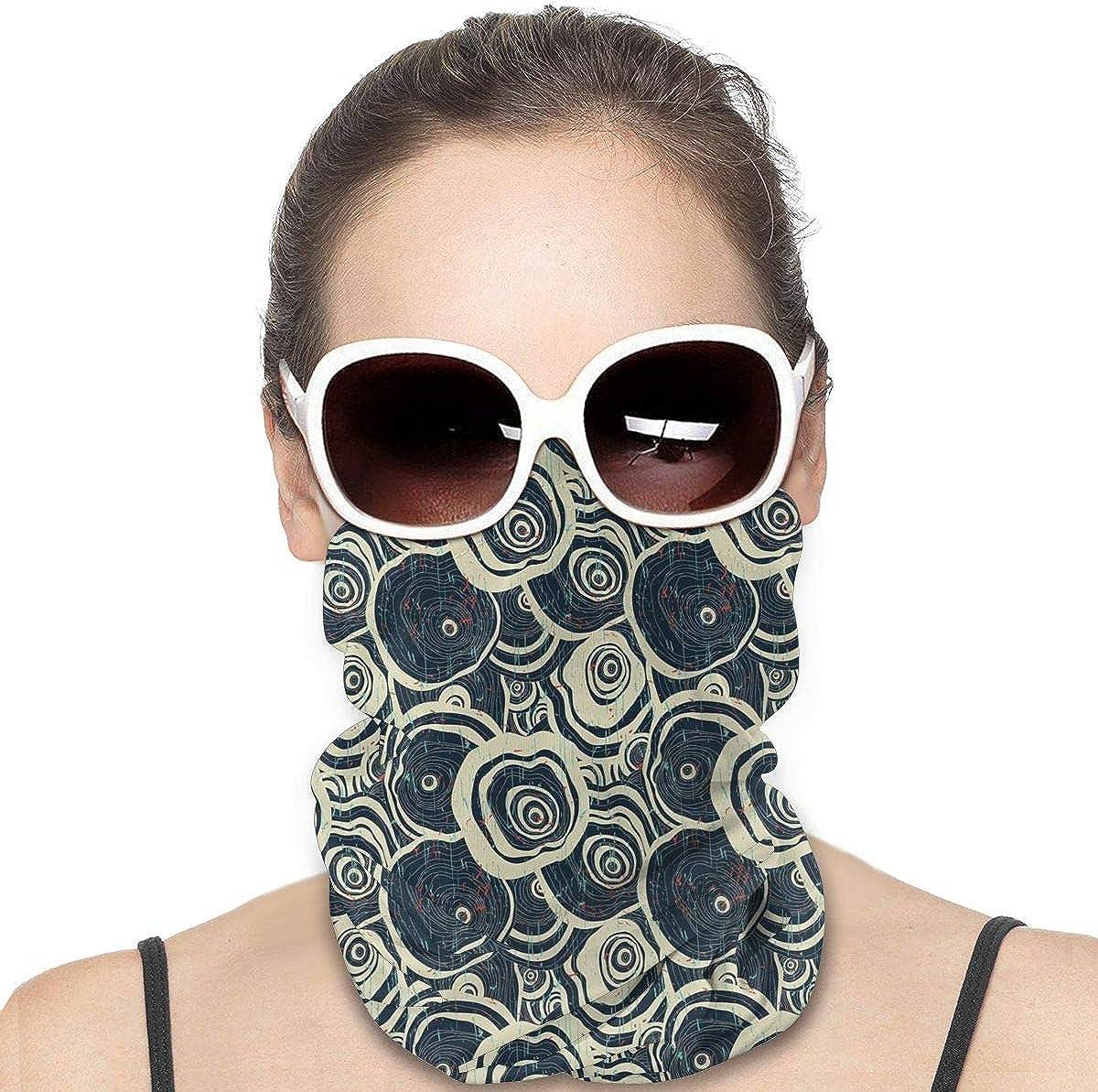 JinSPef Neck Gaiters for Men - Skull Octopus Head Kraken Bandana Face Mask Neck Gaiter Neck Gaiter Head Bands Face Cover Headscarf Sun Mask