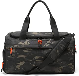Boost Duffel, Water-Resistant Gym Bag with Shoe Compartment, Accessory Pockets, Small Overnight Travel Bag, Durable Sports Duffel Men Women 22L