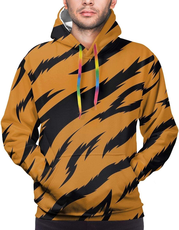 Los Angeles Mall Tiger stripes pattern Indefinitely Cotton Unisex Pul Fashion Digital 3D Print