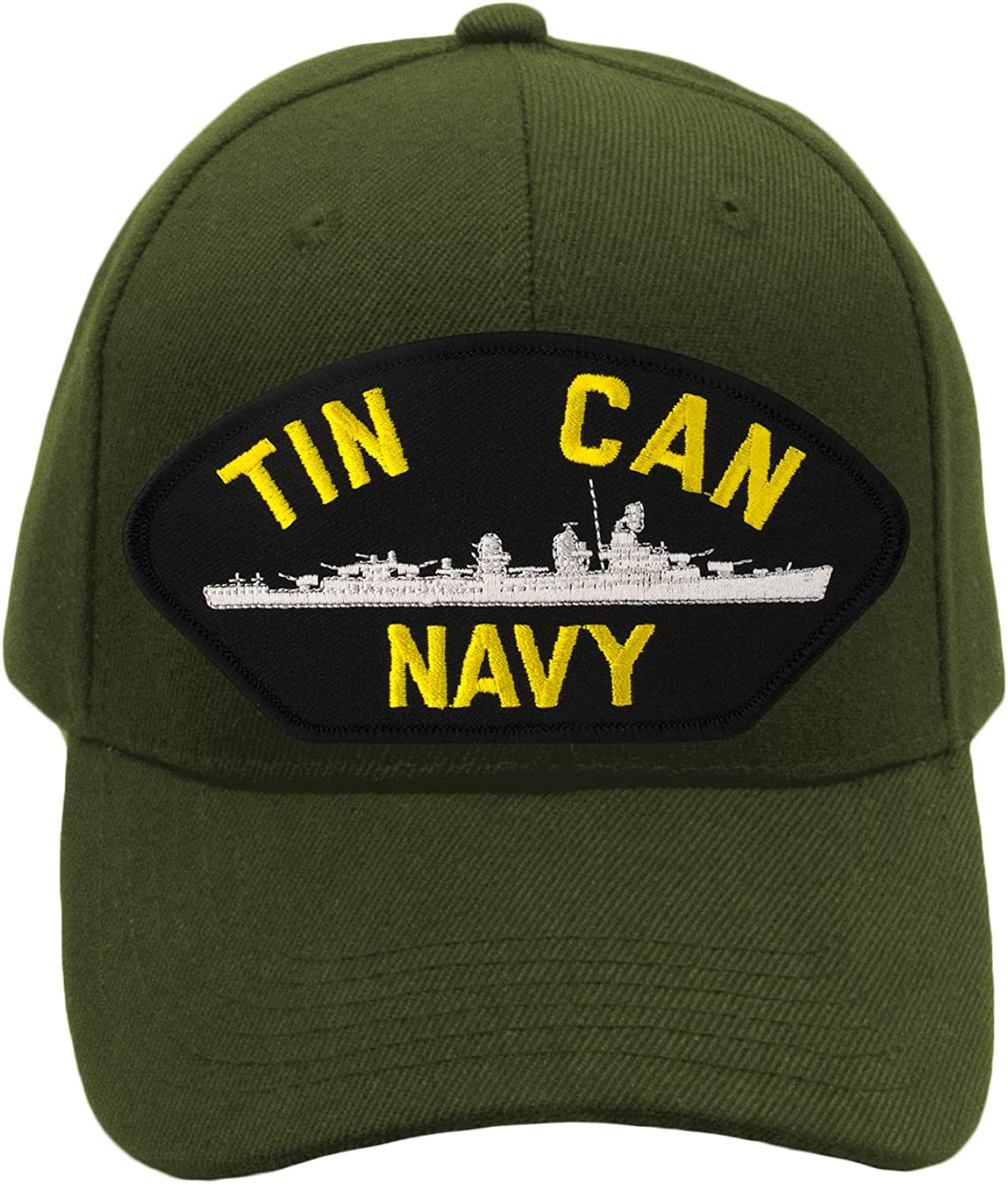 PATCHTOWN Tin Can Navy Hat//Ballcap Adjustable One Size Fits Most