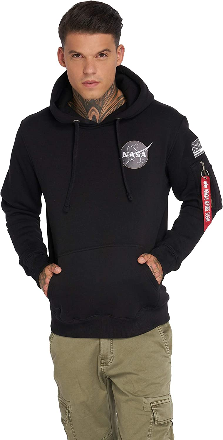 03885ba63a Alpha Industries Industries Industries Space Shuttle Mens Hoody 03 Black L  07e313
