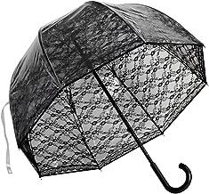 Elite Rain Umbrella Premium Fiberglass Bubble Umbrella - Black Lace