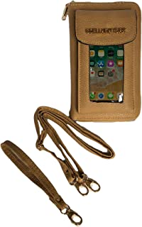 Vegan Leather Crossbody Smartphone Wristlet Wallet