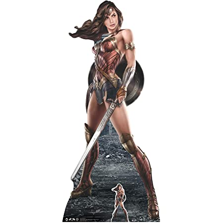 DC Comics Wonder Woman (diseño gráfico) Vida tamaño de cartón Recorte out, Multi Color