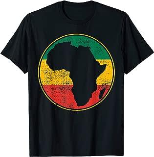 Africa Vintage Retro Map Tanzania Namibia Kenya South Gift T-Shirt