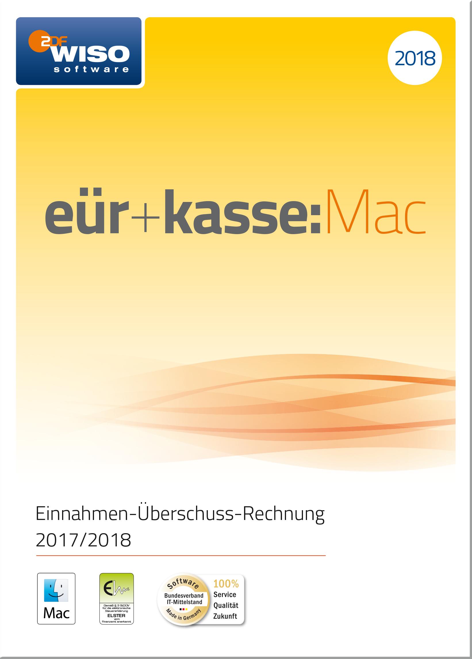 WISO eür+kasse:Mac 2018: Für die Einnahmen-Überschuss-Rechnung 2017/2018 inkl. Gewerbe- und Umsatzsteuererklärung [Online Code]